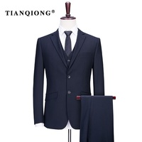 TIAN QIONG Brand Custom Made Suit Wedding Suits For Men Clothing 80 Polyester Slim Gentle Men