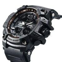 Men Military Watch Waterproof S Shock Digital LED Watches Mens Quartz Multifunction Dual Display Outdoor Sport Watch Men
