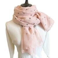 Хлопок и лен шарф Love печатных шелковые шарфы YSY 002