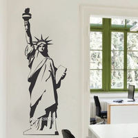 Statue of Liberty Vinyl Wall Stickers New York Landmark Wall Art Room Sticker Decal Door Window Stencils Mural Decor  SA780