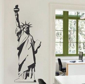 Statue of Liberty Vinyl Wall Stickers New York Landmark Wall Art Room Sticker Decal Door Window Stencils Mural Decor  SA780 1