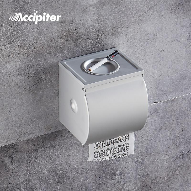 Nail Free Bathroom Toilet Holder Paper Towel Holder With Ashtray Roll Paper Bathroom Toilet Paper Holder Wall Mount Tissue Box