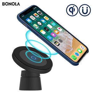Image 2 - Bonola Magnetic Wireless Car Charger for iPhone 11/11Pro/11ProMax/XsMax/Xr/8 Qi Car Phone Wireless Charger For Samsung S10/S9/S8