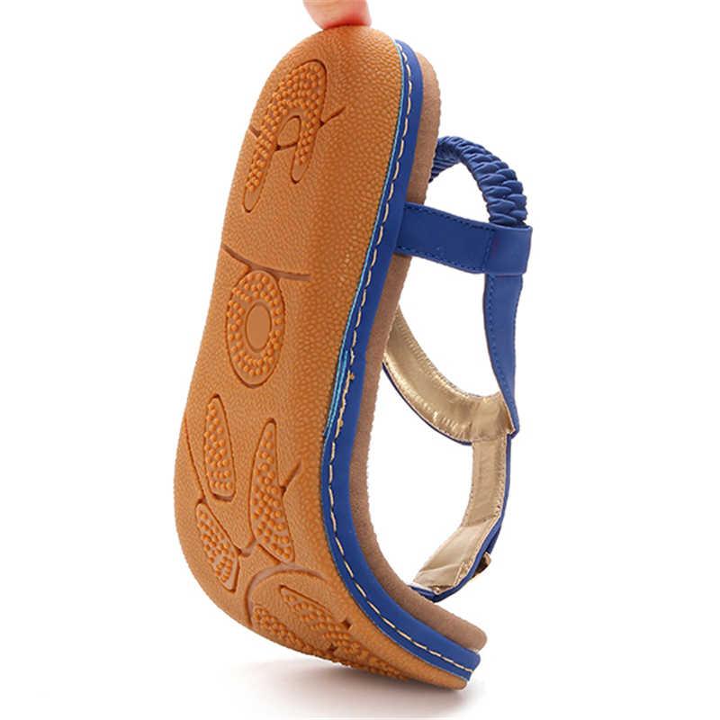 Socofy Lớn Kích Thước T-dây đeo Bãi Biển Dép Phụ Nữ Đôi Giày Mùa Hè Đàn Hồi Trượt Trên Kẹp Ngón Chân Phẳng Dép Giày Nữ sandalias phụ nữ