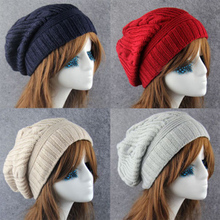 Cute 2018 Winter Beanies Hats For Women Skullies Gorros Cap Elastic for Women Men Brand Warm Unisex Solid Red Knitted Hat