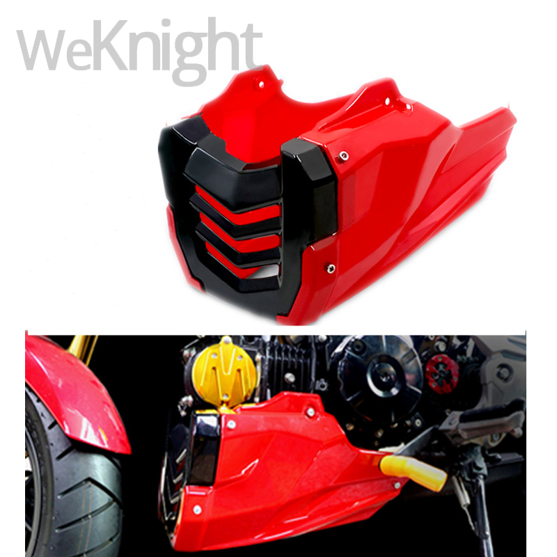 For Honda MSX 125 MSX125-SF MSX125 SF Black Red Engine Protector Guard Cover Under Cowl Lowered Low Shrouds Fairing Belly Pan куплю honda snr 125 в беларусе