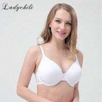 Ladychili Women Intimates Big Girl EFGHI Big Breast Bra Brief Design White Summer Ultra Thin Full