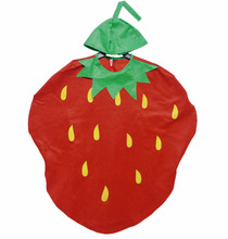 Childrens Day Kindergarten Performance Clothing Non-woven Fabrics Strawberry one-time Cosplay Suit Fruits