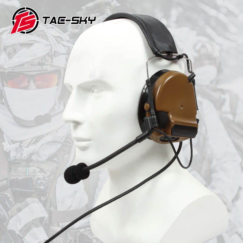 TAC-SKY COMTAC III silicone earmuff version electronic tactical hearing defense noise reduction sound pickup military headphones