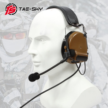 TAC SKY COMTAC III silicone earmuff version electronic tactical hearing defense noise reduction sound pickup military headphones