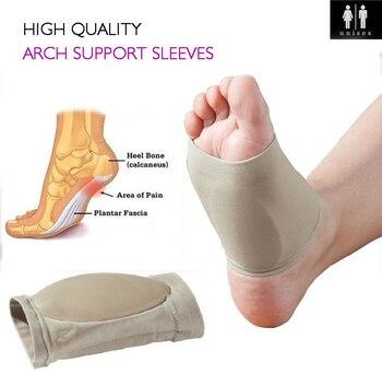 684ca599 1 par de pie plano soporte de arco de fascitis Plantar manga cojín de talón  Spurs Neuromas pies almohadilla ortopédica herramienta ortopédica alivio  del ...