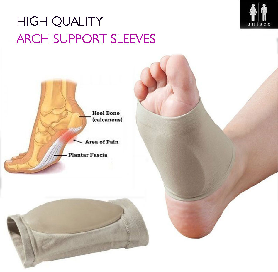 1Pair Flat Foot Arch Sokongan Plantar Fasciitis Sleeve Cushion Heel Spurs Neuromas Feet Ortopedik Pad Orthotic Tool Relief Pain