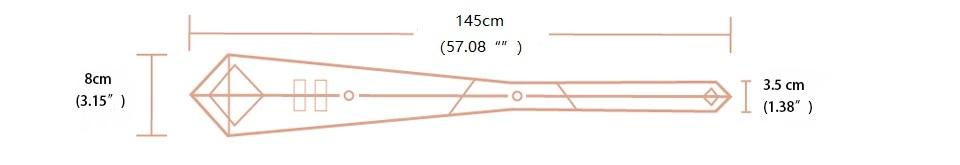 145cm tie size