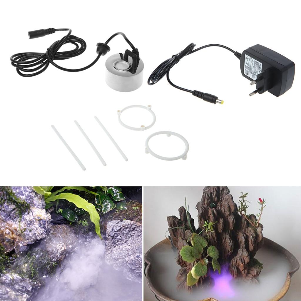 20mm Super Ultrasonic Mist Creator Fogger Nebulizer Water Fountain Vaporizer EU Plug|Humidifiers| |  - title=