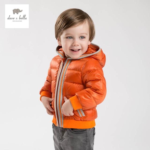 DB4694 дэйв bella baby boy мягкие одежды с капюшоном пальто на вате верхняя одежда детей пуховик