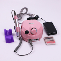 Nail Art Equipment Pink Color Nail Drill Portable Nail polisher Micromotor suitable for manicure and nail beauty
