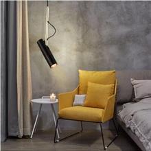 L скандинавские спальни прикроватная современная люстра в минималистическом стиле с одним углом дизайнерский длинный бар прожектор Датская небольшая люстра