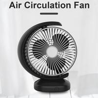 Portable Mini Car Fan Air Circulation Cooling Fan Strong Wind USB Charging Low Noise And Comfortable Fan For Car Home