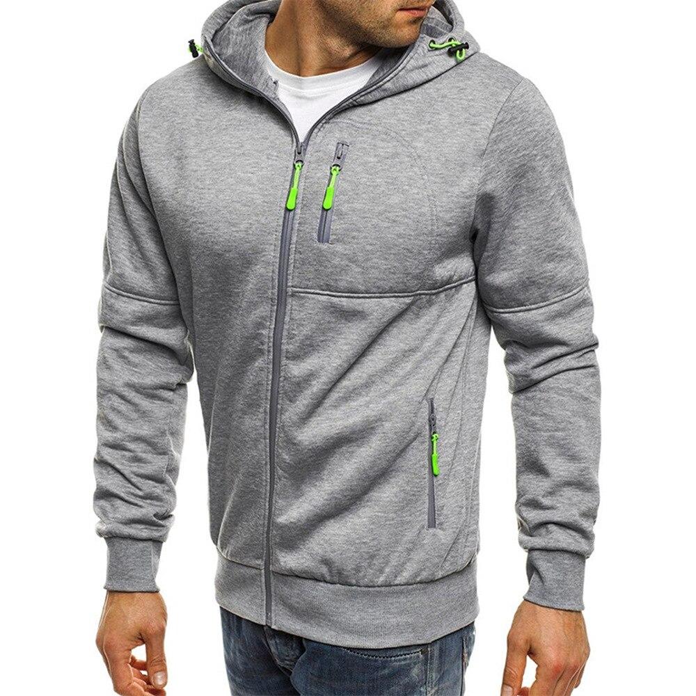 New Style Fashion Leisure Zipper Pocket Men 39 s Jacket Warm Jacket Men 39 s brand clothing Long sleeve Sweatshirt Large size Outwear in Jackets from Men 39 s Clothing