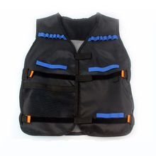 54x47cm Children Kids Black Vest Jacket Waistcoat Ammo Holder N-Strike Pistol Bullets Toy Clip Darts for Nerf