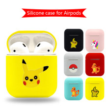 Cartoon Bluetooth Wireless Earphone Case For Apple AirPods TPU Silicone Charging Headphones Cases for Airpods Protective Cover(China)