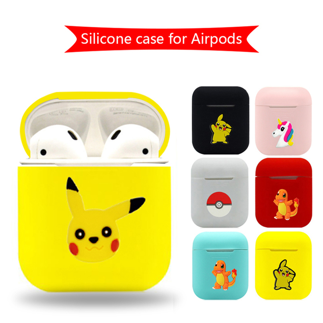 Cartoon Bluetooth Wireless Earphone Case For Apple AirPods TPU Silicone Charging Headphones Cases for Airpods Protective Cover