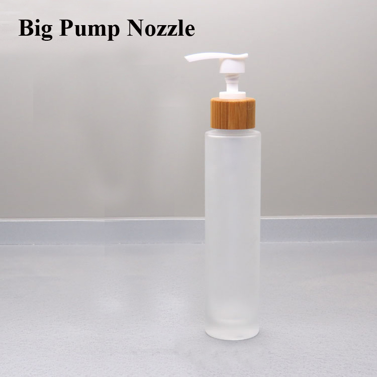 Sample 100ml Frosted Glass Cosmetic Skin Care Liquid Hydrosol Lotion Bottle with Pump Nozzle/Spray Atomizer/Screw Cap/Chiaki Lid three 100ml