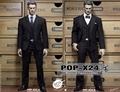 POPTOYS 1/6 Scale Series X24 A/B Style Black Business Suit + Shoes Customize for Captain America Body Figure Dolls Toys