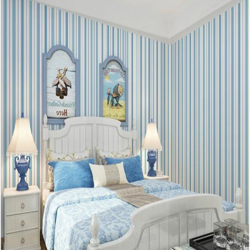 Beibehang wallpaper 3D Mediterranean vertical striped 3D living room bedroom background 3d wallpaper roll mural papel de parede beibehang vertical striped embroidery diamond in the mediterranean bedroom living room wallpaper tv wall papel de parede