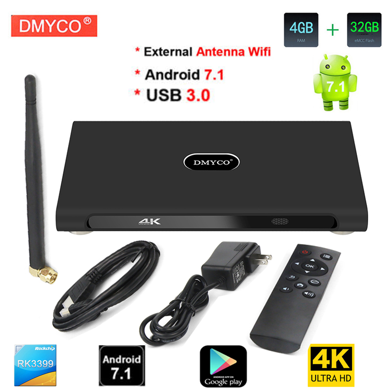 smart tv box android 7.1 K10 Plus RK3399 Dual-core M65+ 4G+32G Media Player PK H96 Max Media Player support portugal Europe iptv ugoos ut3s android linux dual boot rk3288 4g 32g media player