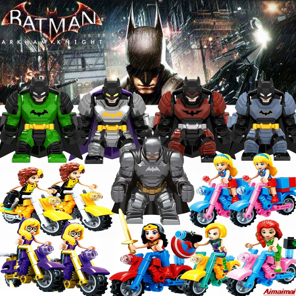 Super Heroes Justice League Figures Toys Superman Wonder Woman Flash Green Lantern Batman Lockings Superhero Toys Gifts Bat Man(China)