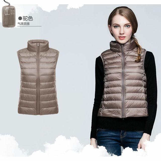 NewBang Brand Women Sleeveless Women's Ultra Light Down Vests Slim Jacket Girl Gilet Plus Lightweight Windproof Warm Waistcoat  3