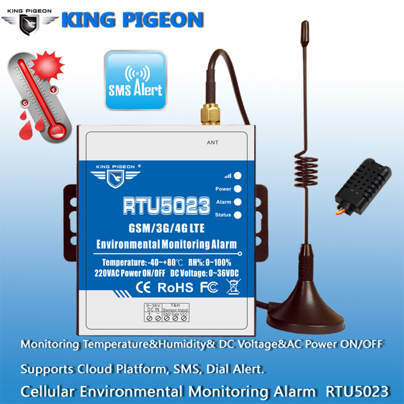 Security & Protection ... Security Alarm ... 32506481865 ... 4 ... GSM Temperature Humidity Monitor AC/DC Power Lost Alarm Remote Monitor Support Timer Report APP Control RTU5023 ...