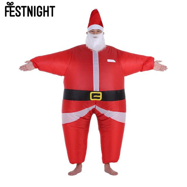 christmas inflatable santa costume jumpsuit air fan operated blow up christmas party fancy dress inflatable outfit - Christmas Blow Ups Cheap