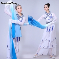 2019 summer water sleeves traditional chinese costume hanfu dress stage performance folk dress hanfu women stage costume