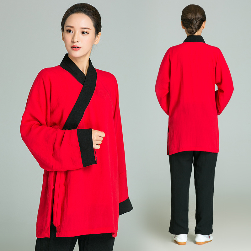 Men Women Yoga Set Loose Cotton Linen Breathable Sweater SweatShirt+pants Male Female Leisure Tai Chi Kung Fu Martial Arts Set