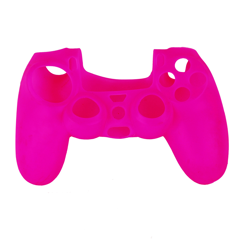 OURSTEAM 10PCS Popular Design Pink Soft Rubber Case For Sony PS4 Controller Games Silicone Protective Cover