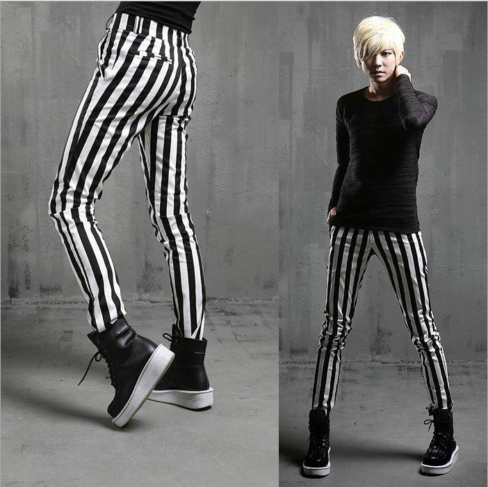 Popular Mens Striped Pants Black White-Buy Cheap Mens Striped Pants Black White Lots From China ...
