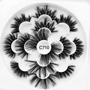 Image 5 - 3/5/7/13Pairs3D 밍크 헤어 가짜 속눈썹 15 25mm 속눈썹 두꺼운 긴 전경이 푹신한 수제 잔인한 밍크 속눈썹 메이크업 도구