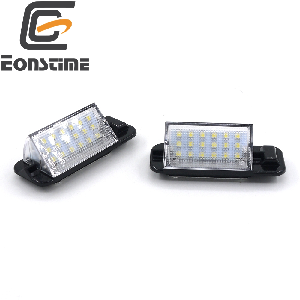 Eonstime White 2 PCS Car Auto 18 LED 3528 SMD License Plate Light Lamp for BMW E36  3 Series E36 1992-1998 318i 320i 323i