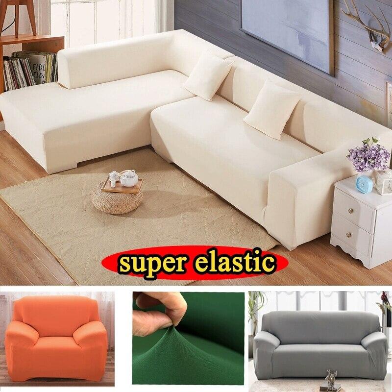 Canto móveis poltrona sofá capa em tecido stretch elástico almofadas universal covers caso elástico no sofá de canto capa 17 cores