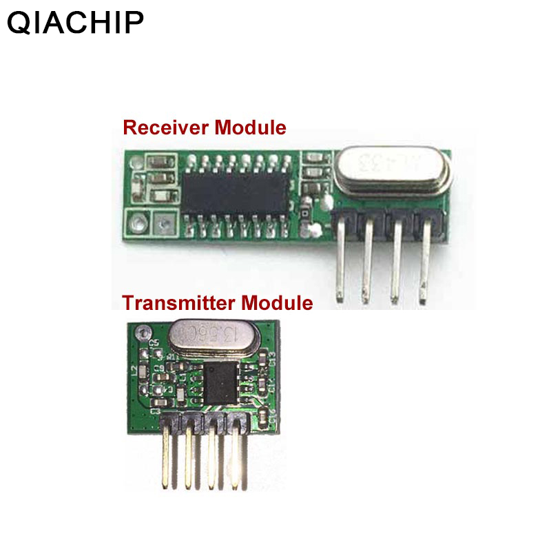 US $1 05 56% OFF|QIACHIP 433mhz RF Transmitter and Receiver Superheterodyne  UHF ASK Remote Control Switch Module For Arduino Uno Wireless Diy Kit-in