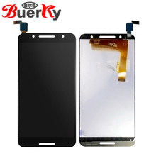 "BKparts 5,"" для Alcatel One Touch A7 5090Y OT5090 5090 ЖК-дисплей сенсорный экран стекло дигитайзер полная сборка"
