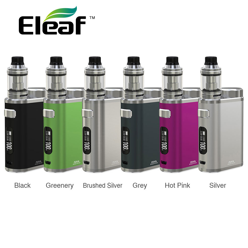 Original Eleaf IStick Pico 100W Kit W/ 100W Box Mod & 2ml Ello Tank with HW1-C Coil No 18650/21700 Battery Ecig Vape Starter Kit
