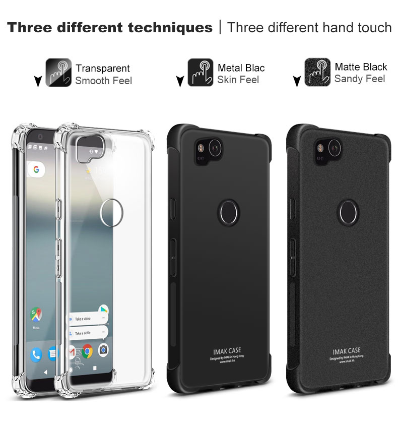 Cover For Google Pixel 2/ For Pixel 2 XL/ For Pixel XL2 Case Original Imak TPU Silicone Case Back Cover + Screen Protector