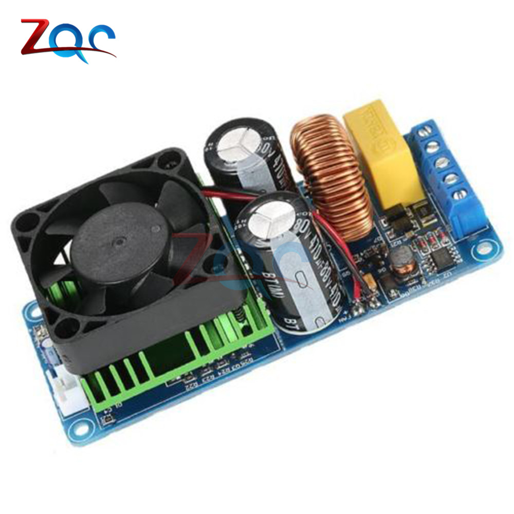 цена на IRS2092S 500W Mono Channel Digital Amplifier Class D HIFI Power Amp Board Digital Amplifier Module 20Hz-20KHz with Fan