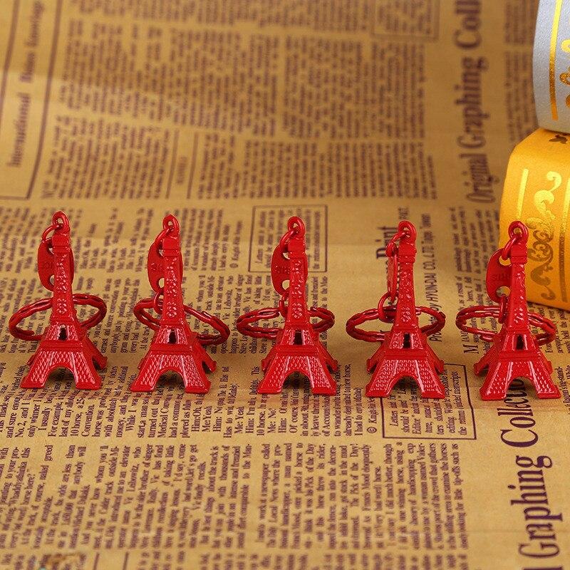 100 stks/partij Frankrijk Parijs Eiffeltoren Sleutelhanger Metalen Toren Sleutelhanger Promotie Geschenk Sleutelhanger Bag Opknoping-in Sleutelhangers van Sieraden & accessoires op  Groep 1