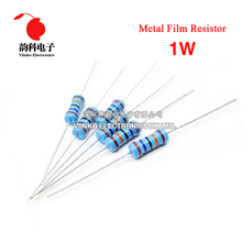 50pcs 1W 1% Metal Film Resistor 43R 47R 51R 56R 62R 43 47 51 56 62 ohm(China)