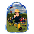 New Cartoon Fireman 13 Inch Blue Backpack School Bags For Little Cute Kids Bag Child School Backpack For Baby