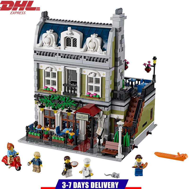 LEPIN Creator Architecture Series City Paris Restaurant Street View Series Building Blocks Set Kids Toys Compatible Legoings a toy a dream lepin 15008 2462pcs city street creator green grocer model building kits blocks bricks compatible 10185